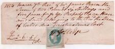 1854 WELLS Receipt JAMES PEARCE & Dean of Wells - Property Tax - Somerset
