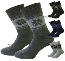 Herren Thermo Socken Vollfrottee mit Norweger Muster 6er Pack! 39-42 und 43-46