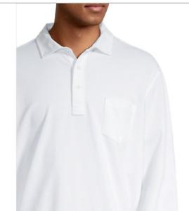 POLO RALPH LAUREN White Medium Cotton Polo Long Sleeve Shirt Classic FIT NWT
