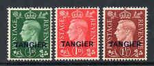 Maroc Agences Tanger 1937 KGVI Ensemble Sg 245-247 Excellent État Cv