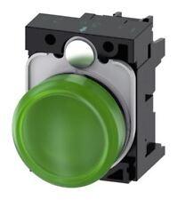 Siemens SIRIUS acto verde LED de luz piloto completa, 22mm recorte, IP20, 230 V AC