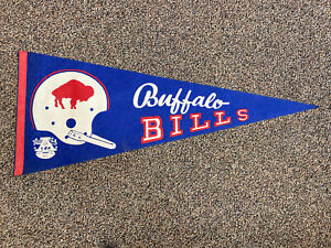 Vintage 1960s Buffalo Bills AFL Felt Pennant Single Bar Full Size War Memorial