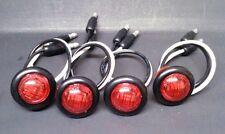 """(4-Pack) Round LED Turn Signal Kit Side Marker Tail Light 3/4"""" Red UTV SXS ATV"""