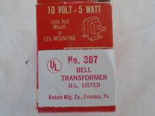 TRINE #307 10 VOLT 5 WATT DOOR CHIME TRANSFORMER 120 VOLT  UNUSED LOCK NUT LEG