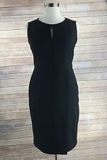 Jones Studio Dress 14 XL black keyhole sleeveless faux wrap sheath career office