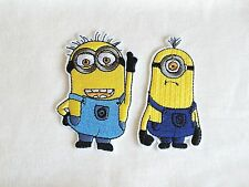 2x Despicable Me Minion patch cartoon cute kids fun Iron On Embroidered Applique