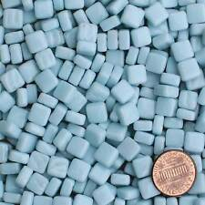8mm Mosaic Glass Tiles - 2 Ounces About 87 Tiles - Cool Phthalo Blue