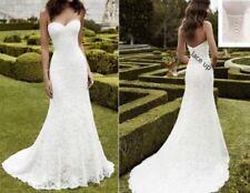 NEW Lace Mermaid Wedding Dress Lace Up Corset Size 12