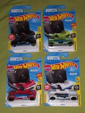 Hot Wheels GoPro Zoom In Green White Black Red Car Vehicle Lot of 4