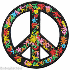 Peace Love Power Flower Vine Starfish Colorful Hippie Boho Iron-On Patches #R029