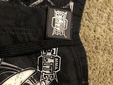 Mma Elite Stamina w/Skull Design Black & White Unlined Shorts Size: Xl 44�