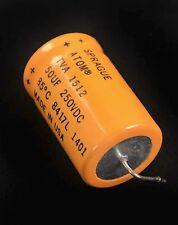 (5) TVA1512 Capacitor Sprague Atom 50uF 250V 8417L 1401 Tube Amp Made USA 85*C
