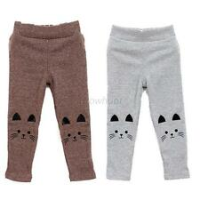 Toddler Kids Winter Warm Thick Cartoon Leggings Girls Autumn Long Pants Age 2-7Y