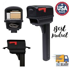 Gentry Large Capacity Mailbox Double-Walled Plastic All-In-One Post Combo Kit
