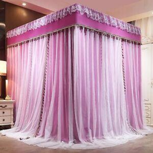 Luxury Two Floors Three Doors Square Floor-standing Lace Princess Mosquito Net