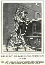 1910 The King's Barge Master Riding On The Carriage Containing The Crown