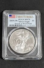 2019 American Silver Eagle PCGS MS70 First Strike - Flag Label