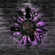 LED Wall Clock Luminous Modern Design Sewing Craft Vinyl Antique Style Decor