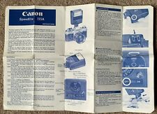 CANON SPEEDLITE 155A INSTRUCTIONS