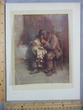 Rare Antique Original VTG Motherless Sir Samuel Luke Fildes Litho Art Print