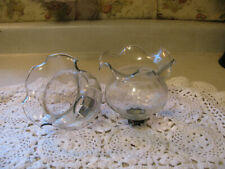 Home Interiors Set of 2 ~ Clear Tulip Top Votive Cup