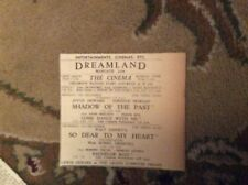 b2-4 1950 ephemera advert dreamland margate bobby driscoll so dear to my heart