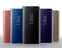 Luxury Mirror Smart Clear Flip Hybrid Case Cover For Samsung Galaxy S7 Edge S8