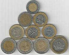 10 BI-METAL COINS from 10 DIFFERENT COUNTRIES (ARGENTINA to VENEZUELA) - Lot #3