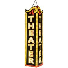 NEW Theater Triangle Embossed Metal Wall Sign Art Entertainment Movie Home Decor