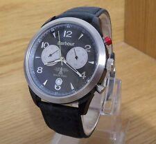 Reloj Cronógrafo suizo de hombre Entallado Barbour Beacon Redley De Cuero Negro 50 M BB 017 SLBK