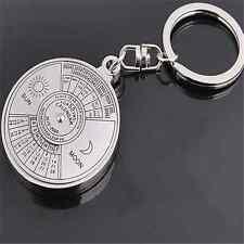 Unique Perpetual Calendar Keyring Keychain Metal Key Chain Ring 50 Years TR16