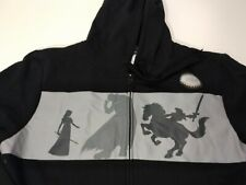 Legend of Zelda Size XL Shadow Link Zelda Ganon Epona Black Zip Up Hoodie