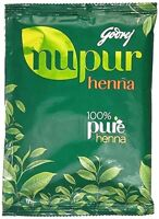3 X Godrej Nupur Herbal Mehandi Henna Powder Natural Hair Color 120gm