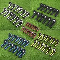 Design 12Pcs Golf Iron Neck Head Covers includes 3 4 5 6 7 8 9 PW SW A LW