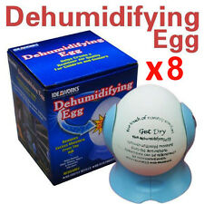 8 x Dehumidifying Egg Dehumidifier Moisture Damp Absorber Air Dryer Purifier