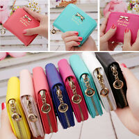 Women Bowknot Small Coin Purse Card Zipper Wallet Holder Mini Bag Clutch Handbag