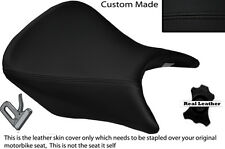BLACK STITCH CUSTOM FITS HONDA CB 500 13-14 FRONT LEATHER SEAT COVER ONLY
