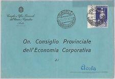 53943  ITALIA REGNO - Storia Postale: Augusto 50 centesimi ISOLATO su BUSTA 1937