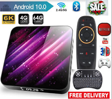 Topsion Android 10 Smart TV Box 4GB 64GB 6K lettore multimediale 3D WIFI Set Top Box