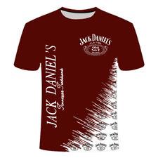 Jack Daniels Whiskey 3D Print Casual T-Shirt Women Men Short Sleeve Tops 3B-7