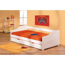 Bett 90x200 cm Kinderbett Funktionsbett Kojenbett Massivholzbett Gästebett weiß