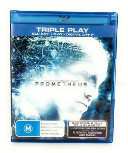 Prometheus (Blu Ray, 2012) Michael Fassbender Region B Free Postage