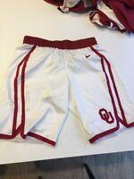 Game Worn Used Oklahoma Sooners OU Nike Women's Basketball Shorts Size 32