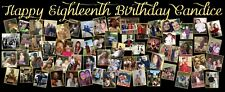 Gold and Black Birthday Party Photo Banner