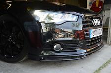RT style Fibreglass Front Lip Splitter for AUDI A6 C7 4G Avant Sedan non S-Line