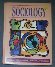 Sociology by Ridchard P. Applebaum, William J. Chambliss (HC) Harper Collins