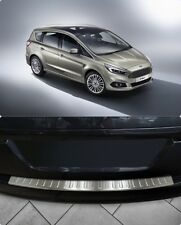 To Fit Ford S-Max 2006-2014 Chrome Rear Bumper Protector Scratch Guard S.Steel