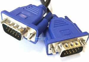 2 METRES 15 Pin Male to Male MONITOR to PC/ Laptop Cable VGA SVGA Lead 2M