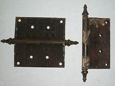 """Antique Eastlake Door Hinges 4 1/2"""" x 4 1/2"""""""