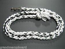 "Green Black White 78"" Horse Lead Rope Tack Dog Leash Heavy Chrome Snap Clip New"